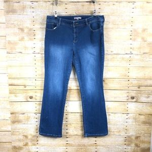 Chicos High Rise Beaded Pocket Boot Cut Jeans Sz 2